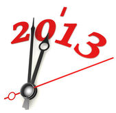 New year 2013 concept clock — Stock fotografie