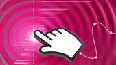 Ondas abstractas y cursor mano — Foto de Stock
