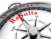 Results compass conceptual image — Stock Photo