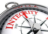 Integrity conceptual compass — Stock Photo