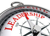 Leadership conceptual compass — Stock Photo