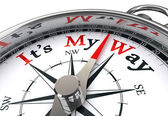 My way conceptual compass — Stock Photo
