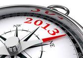 Nowy rok 2013 pojęciowy kompas — Zdjęcie stockowe