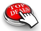 Top deals red button and pointer hand — Stock Photo