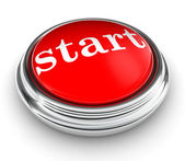 Start word on red push button — 图库照片