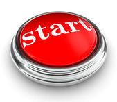 Word start op rode drukknop — Stockfoto