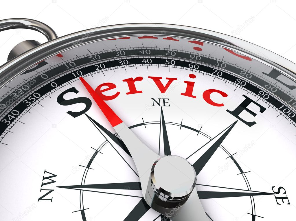 Service red word on compass — Stock Photo © donscarpo #13250793
