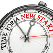Time for a new start — Stock Photo #21468887
