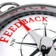 Feedback conceptual compass - Stock Photo