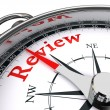 Stock Photo: Review concept compass