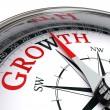 Growth concept compass — Stock Photo