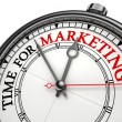 Time for marketing concept clock  — Foto Stock