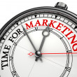 图库照片: Time for marketing concept clock