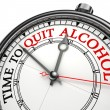 Time to quit drinking alcohol — Stock Photo