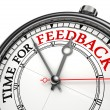 Time for feedback concept clock — Stock Photo #21468999
