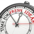 Time for fresh ideas concept clock  — Stock Photo