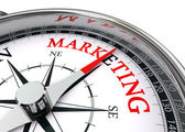 Marketing word on conceptual compass — Foto de Stock