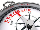 Feedback conceptual compass — Foto Stock