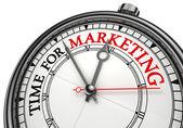 Zeit für marketing-konzept-uhr — Stockfoto