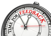 Time for feedback concept clock — Stock Photo