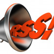 Rss bullhorn — Stock Photo