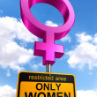 Women only areroad sign — Stock Photo #21471725