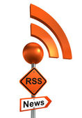 Rss road sign — Stock Photo