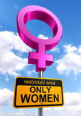 Women only area road sign — Stock Photo