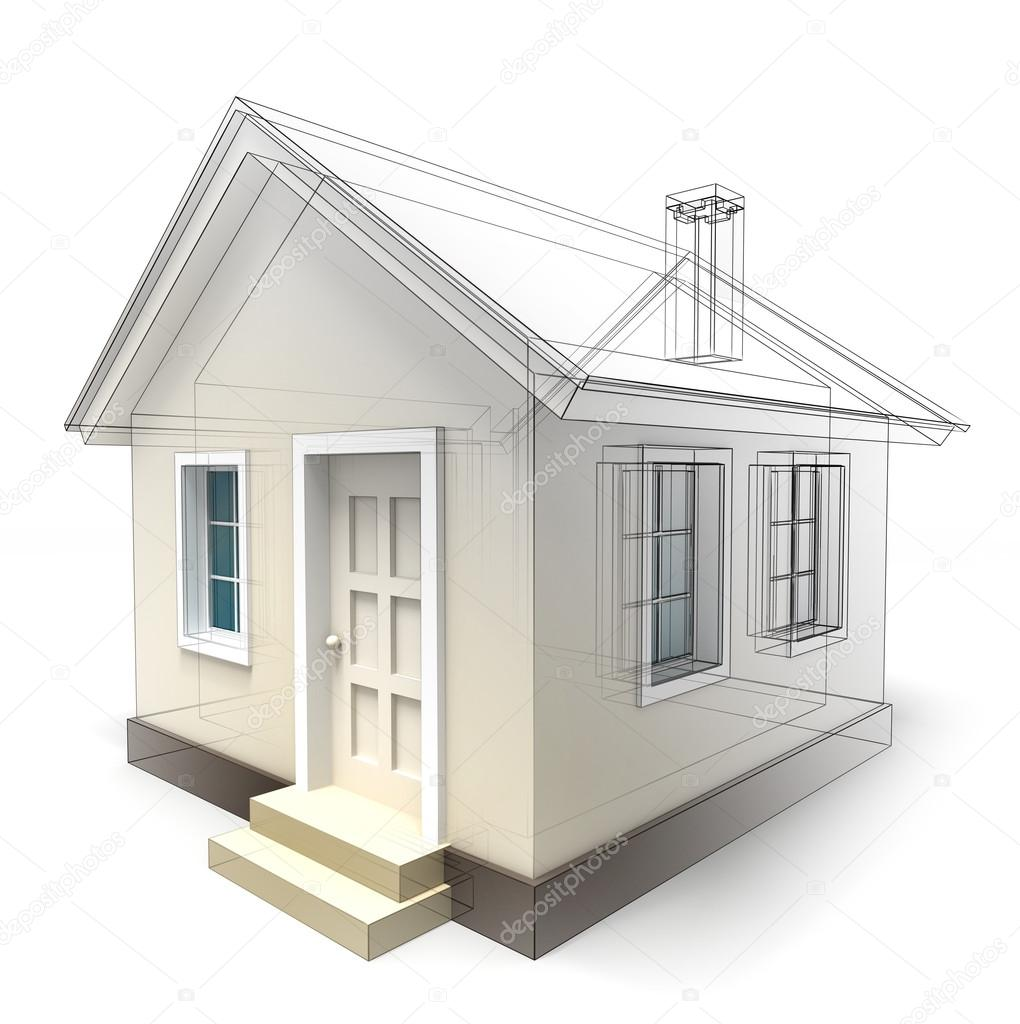 House design sketch stock photo donscarpo 21470401 for Home plan sketch