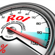 Roi conceptual meter — Stock Photo #25568061