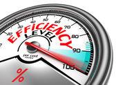 Efficiëntie niveau conceptuele meter — Stockfoto