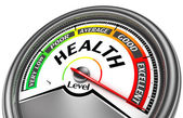 Health level conceptual meter — Stock Photo