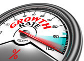 Growth rate conceptual meter — Stock Photo