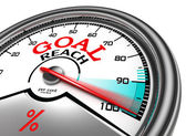 Goal reach conceptual meter — Stock Photo