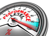 Performance level conceptual meter — Stockfoto