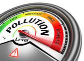 Pollution level conceptual meter — Stock Photo