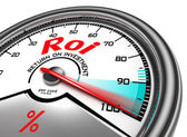Roi conceptual meter — Stock Photo