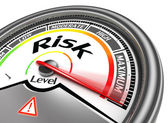 Risk level conceptual meter — Stock Photo