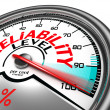 Stock Photo: Reliability level conceptual meter