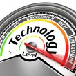 Technology level meter indicate maximum — Stock Photo