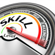 Stock Photo: Skill level conceptual meter