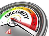 Security level conceptual meter — Stock fotografie
