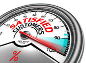 Satisfied customers conceptual meter — Stockfoto