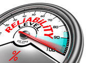 Reliability level conceptual meter — Stock Photo