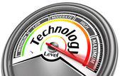 Technology level meter indicate maximum — Stock Photo