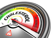 Cholesterol level conceptual meter — Stock Photo