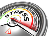 Stress level conceptual meter indicating maximum — Stock Photo