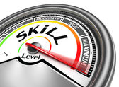 Skill level conceptual meter — Stock Photo