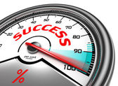 Success conceptual meter — Stock Photo