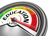 Education level conceptual meter — Stock Photo